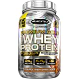 MuscleTech Premium Gold 100% Whey Protein, Double Rich Chocolate, 2.23 Pounds