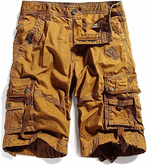 KEYBUR Cotton Twill Army Cargo Multi-Pocket Shorts Outdoor Wear Lightweight