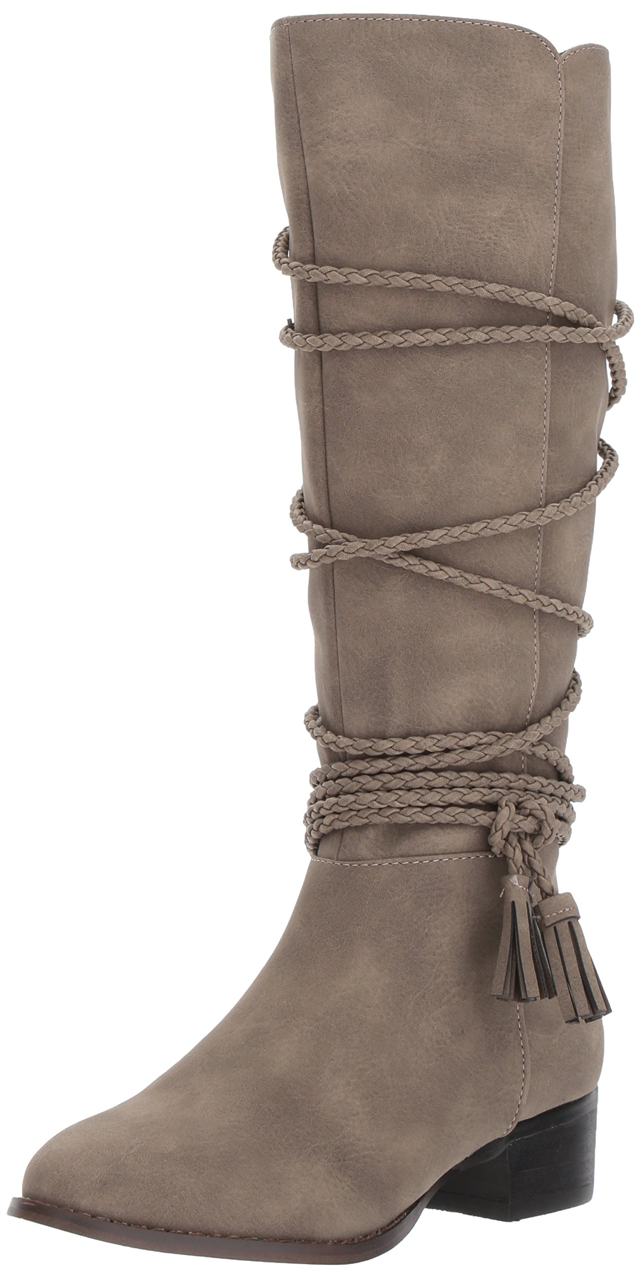 Steve Madden Girls' JCHALLY Fashion Boot, Taupe, 5 M US Little Kid
