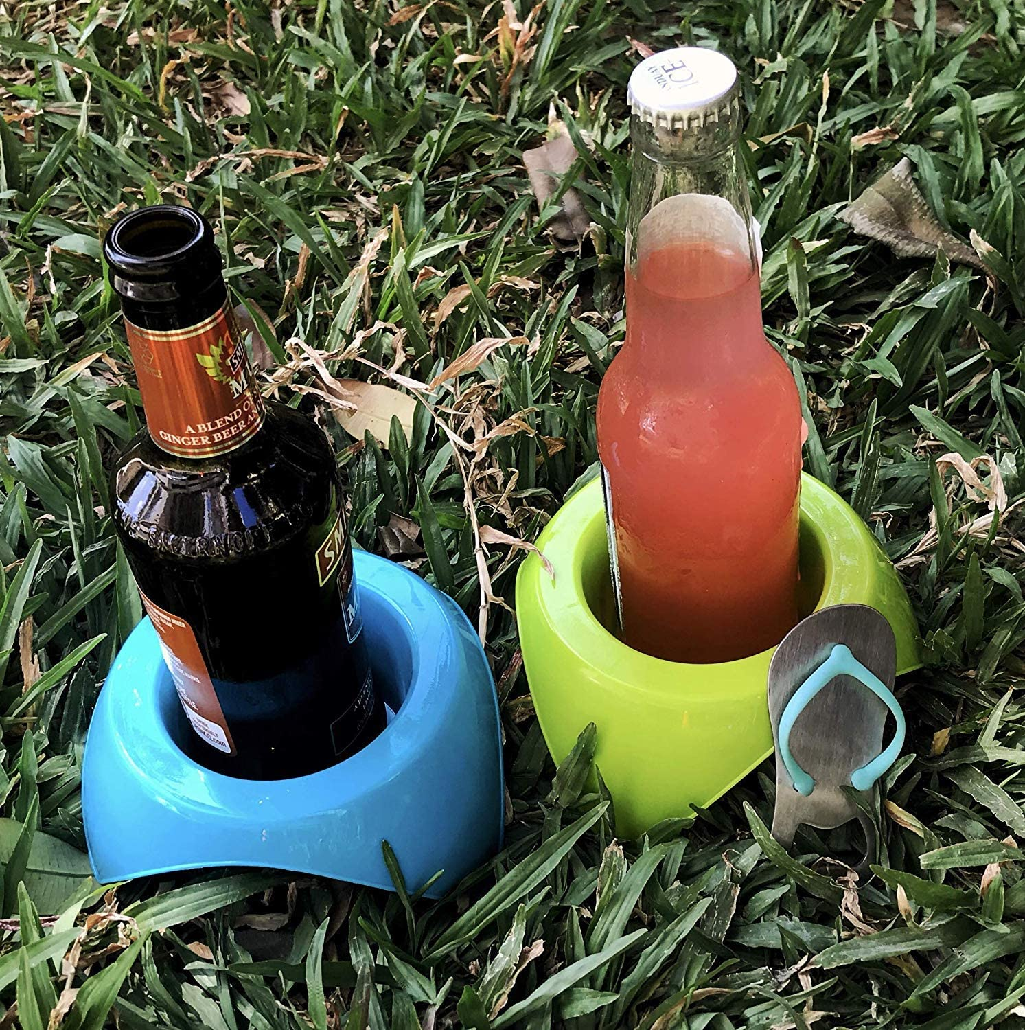 Sand Beach Cup Holders .Sand Beach Cup Holders Electronic and Snack Holder Set of 4 Portable//Stack-able Coasters Portable Sand Coaster.