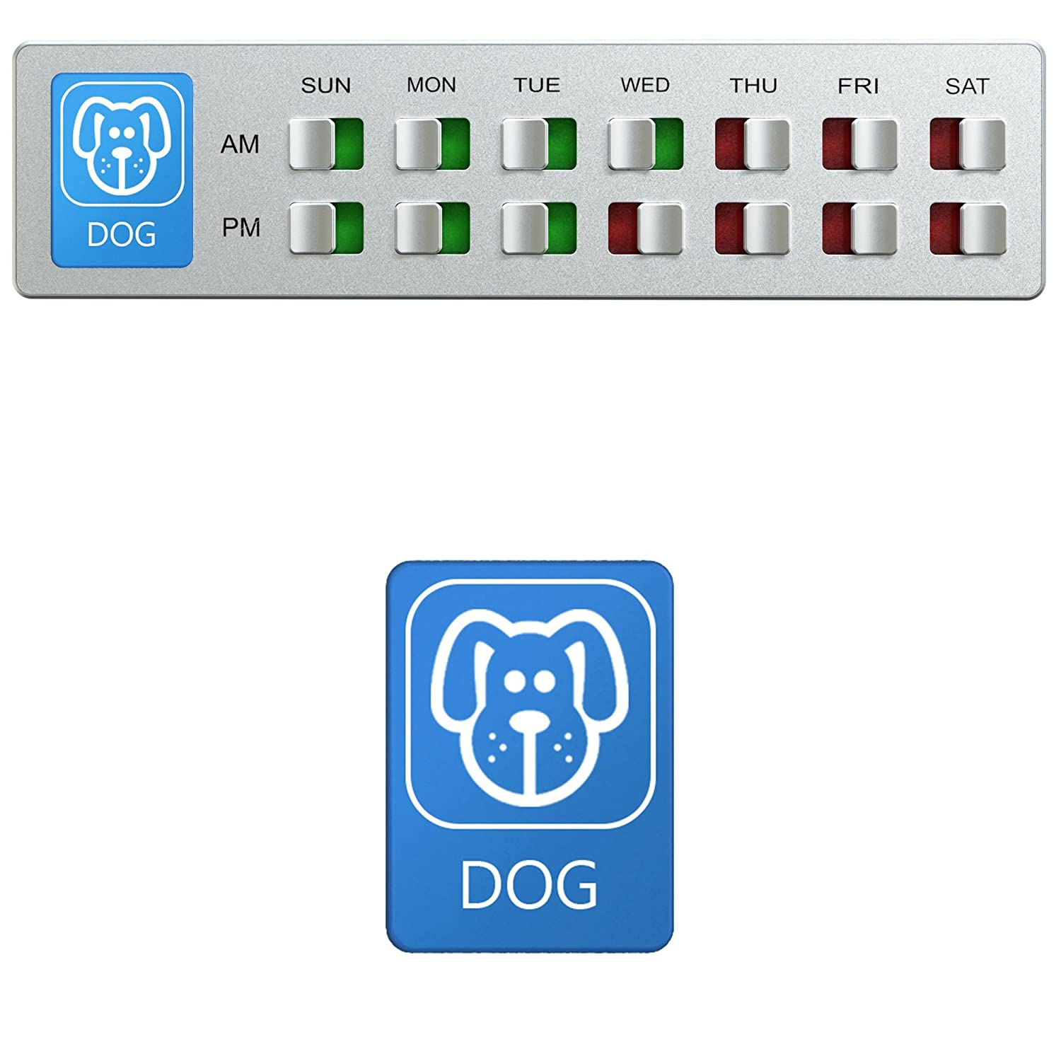 Pet Supplies : Dog Food Organizer - Pet Feeding Reminder - Am Pm Daily  Indicator Sign - Fed or Feed the Puppy Supplies - Fridge Magnets and Double  Sided ...