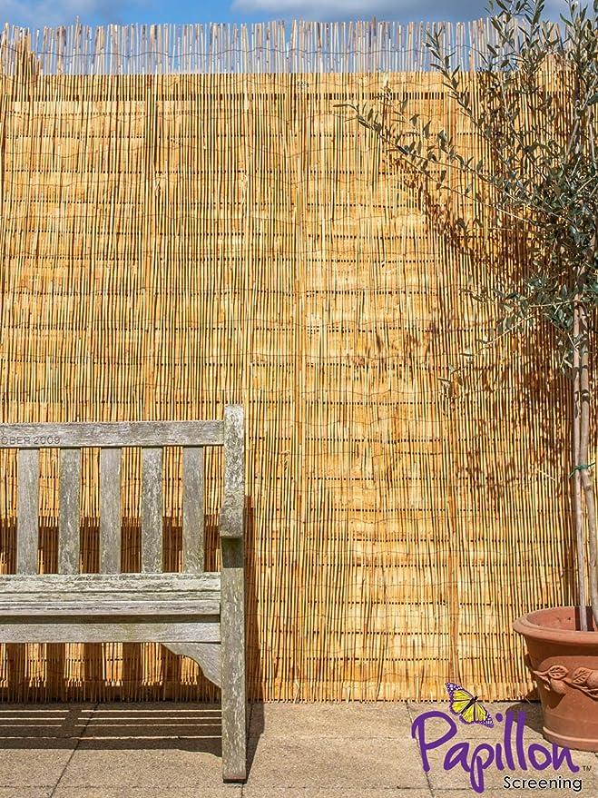 Caña de papillon natural para valla de jardín de 4 x 2 m (13ft 1in x 6ft 7in) rollo de protección contra el viento y el sol: Amazon.es: Jardín