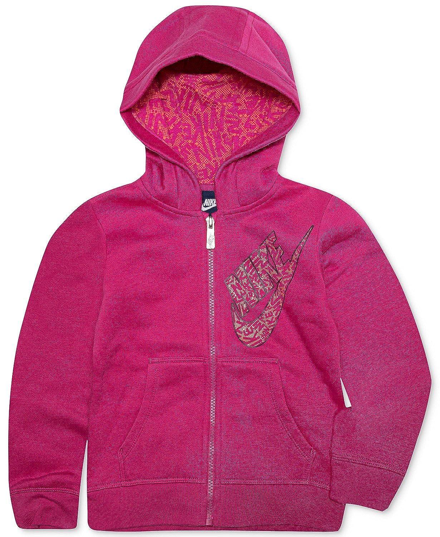 Nike Full-Zip Fleece Hoodie, Little Girls Pink