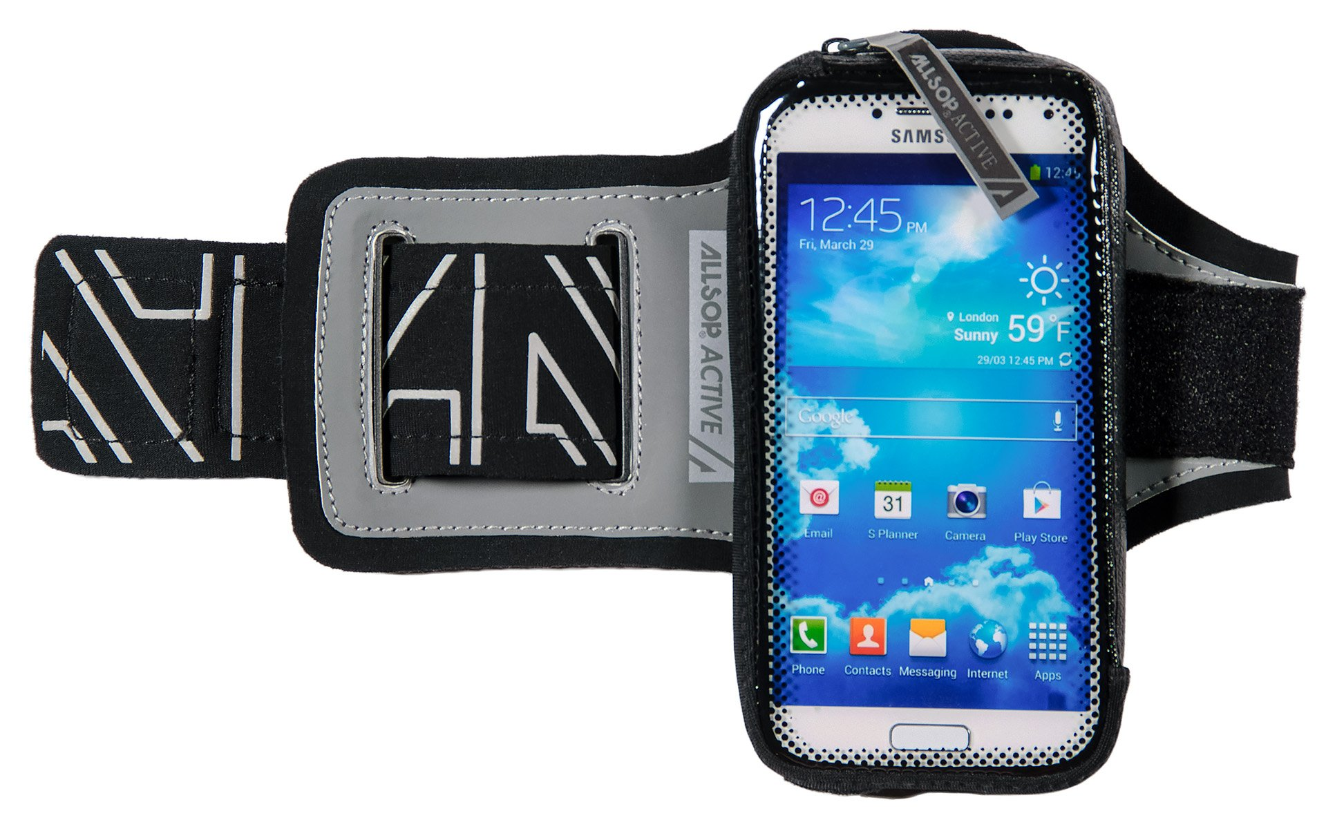 ClickGo Smart Phone Armband with Quick Release and Weather Resistant Sweat Proof Pouch for Running/Exercise/Sports fits Phones up to 5.7'' Including iPhone 7 / SE / 6/5 / 4 & Galaxy S6 / S5 / S4