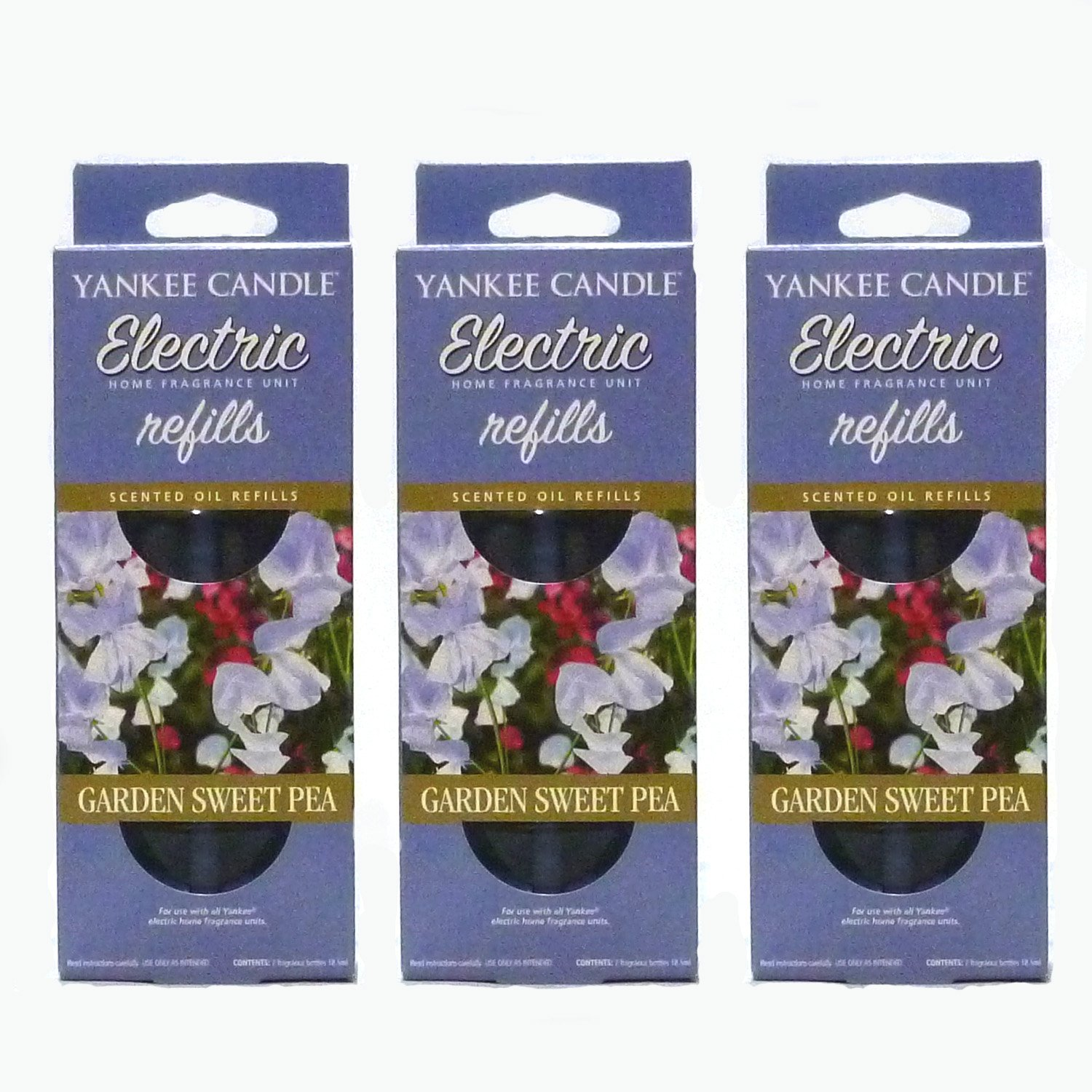 6 Refills In Total 3x Garden Sweet Pea Electric Plug-In Refill Twin Pack Yankee Candle