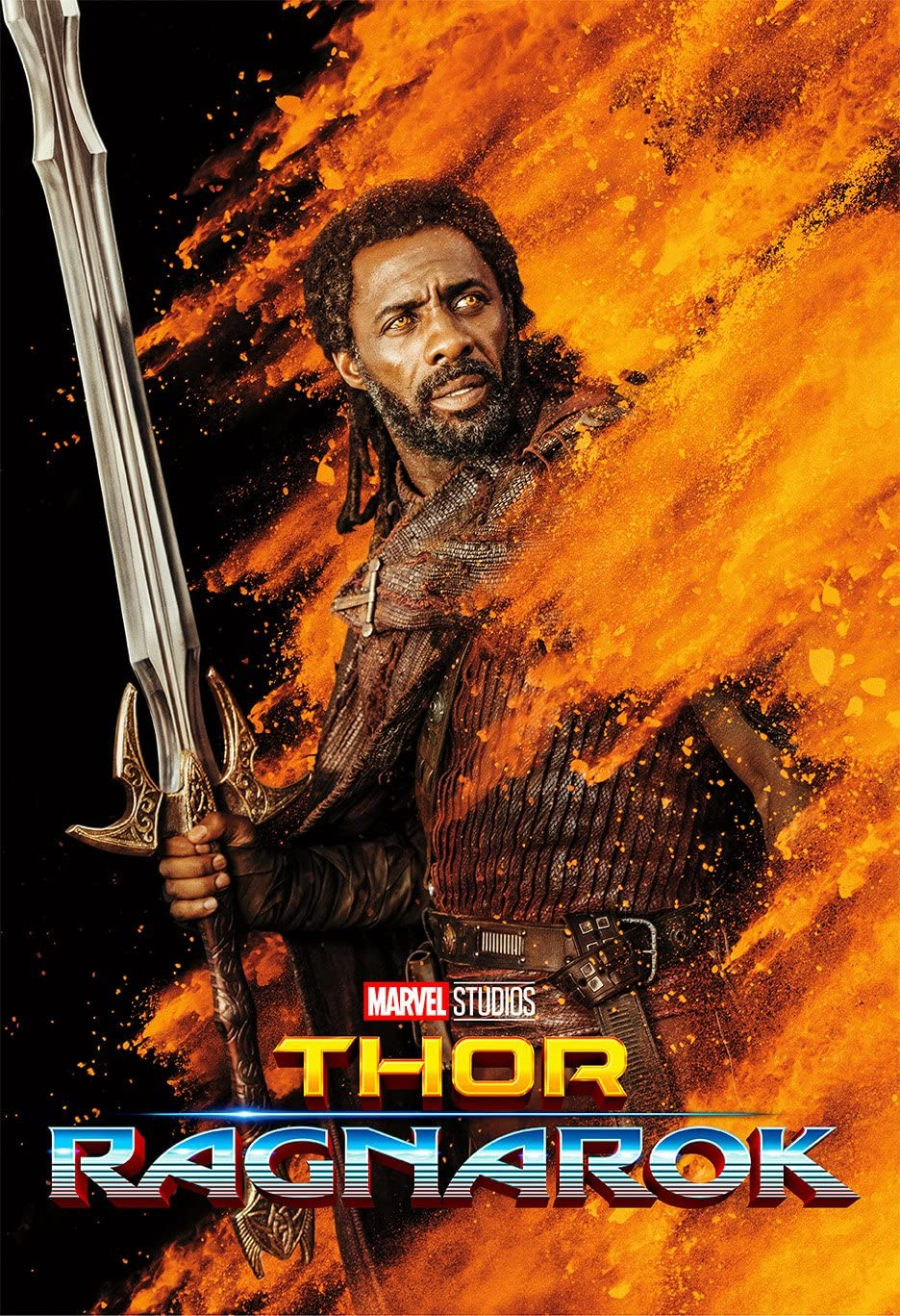 Movie Poster Thor 3 : Ragnarok (2017) - Heimdall - 13 in x 19 in Flyer Borderless + Free 1 Tile Magnet