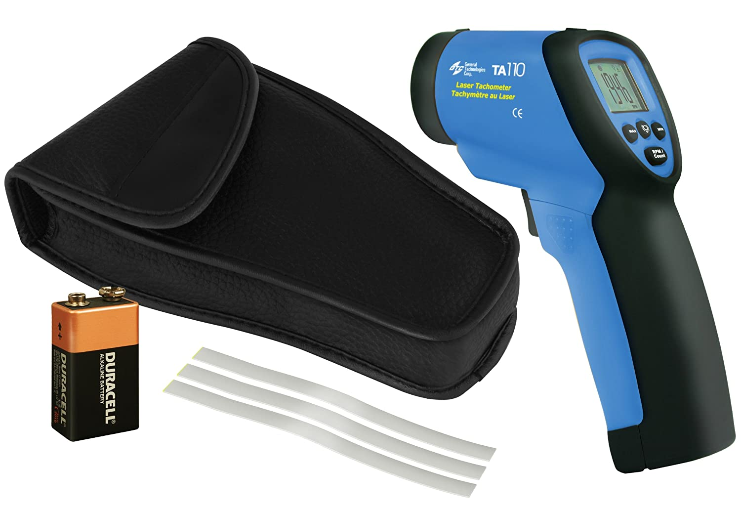 General Technologies Corp GTC TA110 Laser Tachometer and Counter