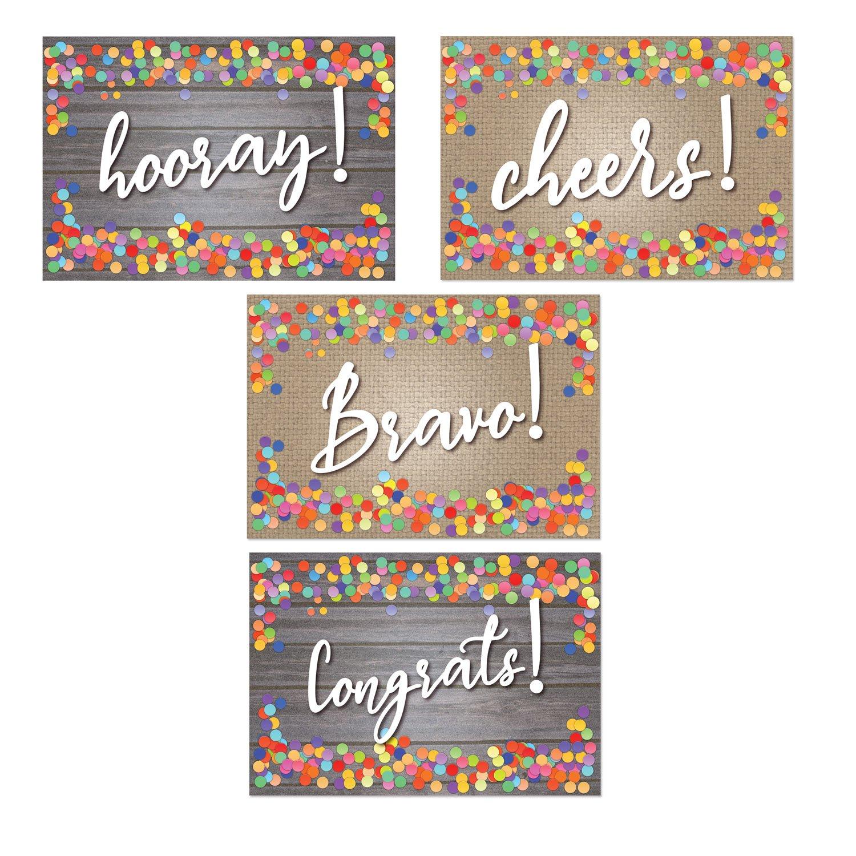 Assorted Congratulation Postcards - Hooray, Cheers, Bravo, Congrats - 4'' x 6'' Postcards