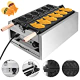 Mophorn Commercial Taiyaki Maker 6Hole Electric