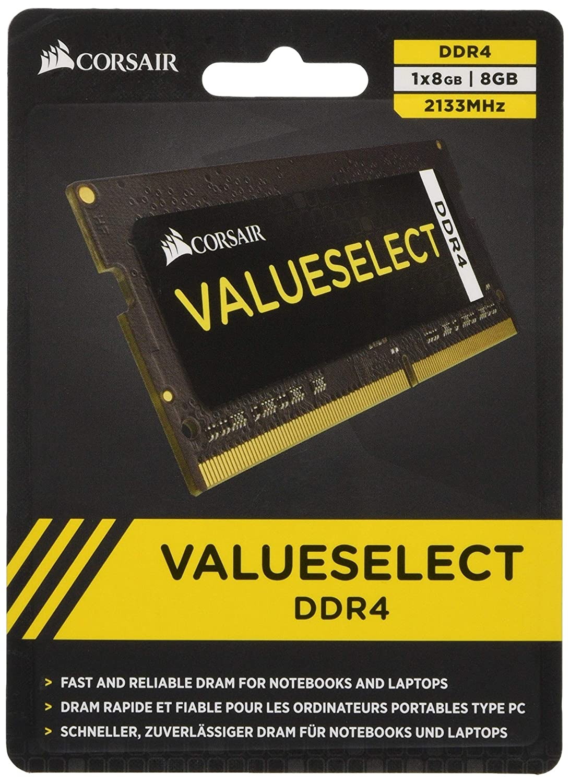 Negro CMSO16GX4M1A2133C15 M/ódulo de Memoria de 16 GB Corsair Value Select 1 x 16 GB, SODIMM, DDR4, 2133 MHz