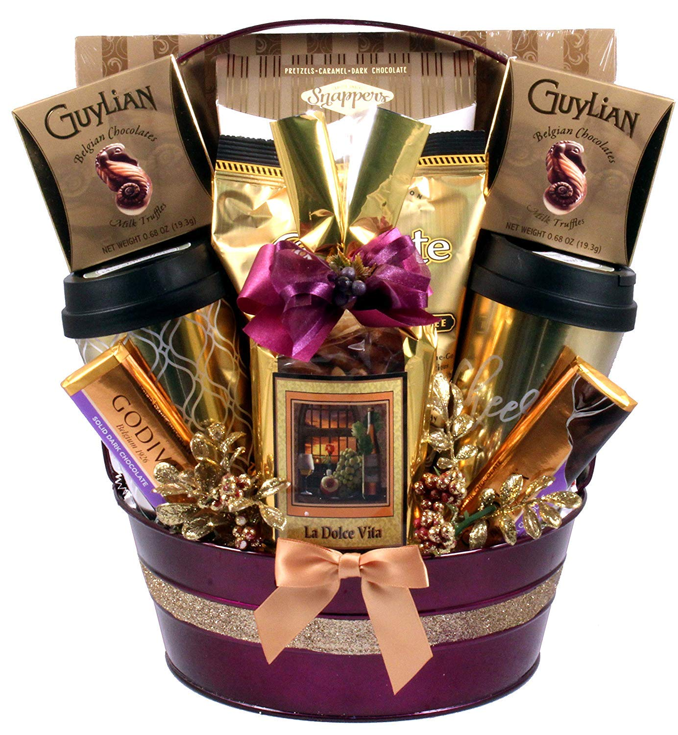 The Good Life, A Decadent, Indulgent Gourmet Sweets Gift Basket Like No Other,