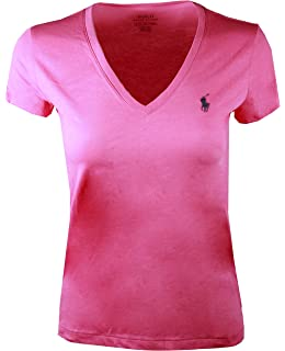 af575ecca4974c Polo Ralph Lauren Damen V-Neck Shirt T-Shirt schwarz Größe L  Amazon ...