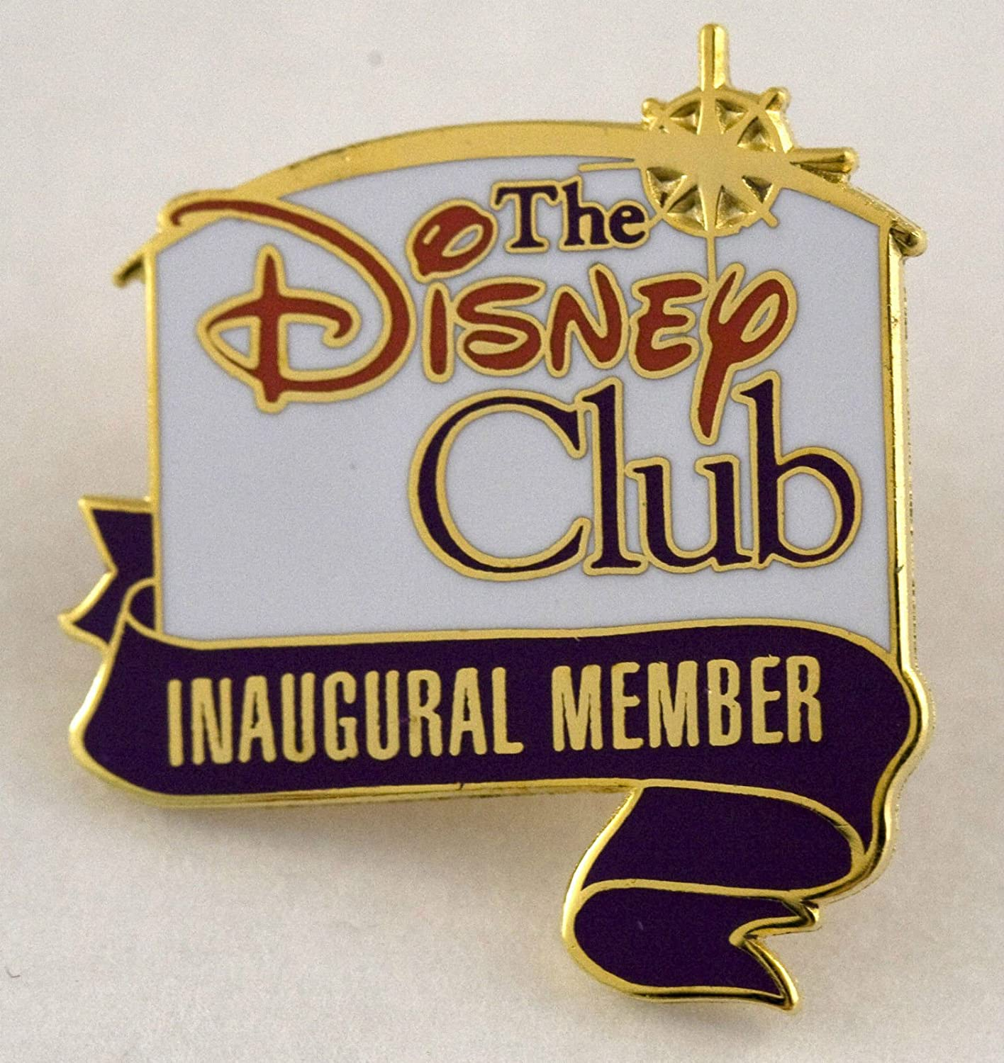 WALT DISNEY DISNEYLAND THE DISNEY CLUB INAUGURAL MEMBER LAPEL PIN BADGE BUTTON