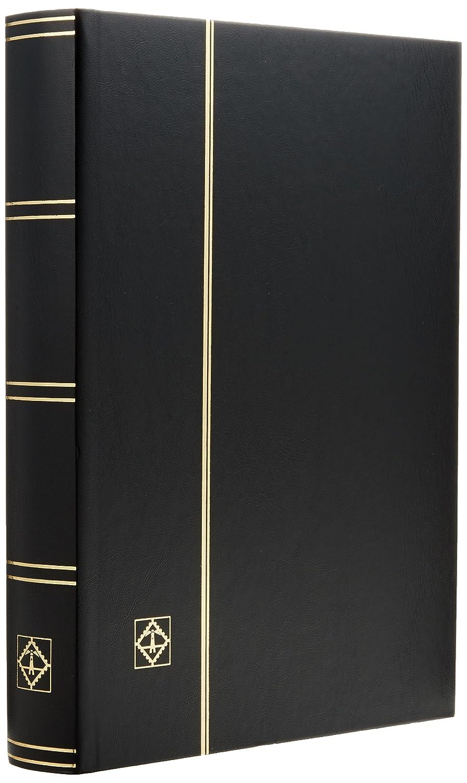 Leuchtturm (321487 Classeur Basic, DIN A4, 64 Pages Noires, Couverture Non ouatinée, Noir