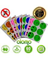 Mosquito Repellent Patch 60 Count Keeps Mosquitoes and Insects away. Mosquito Repellent Patch Simply Apply to Skin and Clothes. Adult,Kid and Pet-Friendly. Guarantee 100% Natural Essential Oil