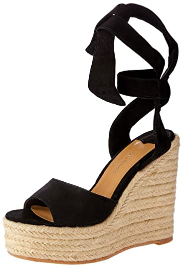 531887afd8a Tony Bianco Barca Womens Wedge - peep-Toe Front and Espadrille Wedge  Platform Sole Black
