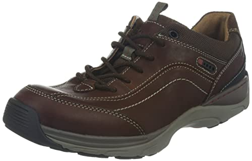 Men'S Clarks Brown Leather Skyward Vibe