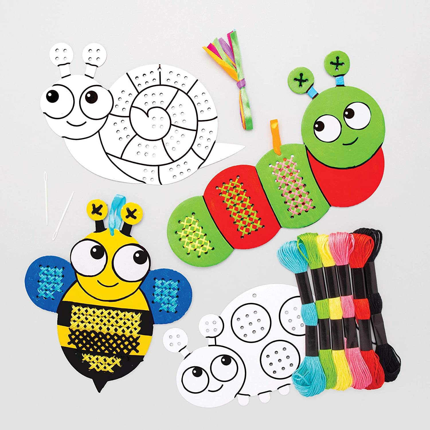 Baker Ross Bug Colour in Cross Stitch Kits (Pack of 5) 26% OFF £6.40 @ Amazon