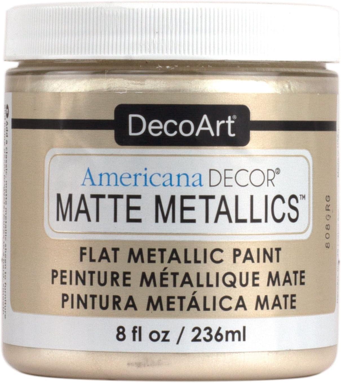 Deco Art Admmt-07 Americana Decor Matte Metallics 8oz-Ivory Pearl