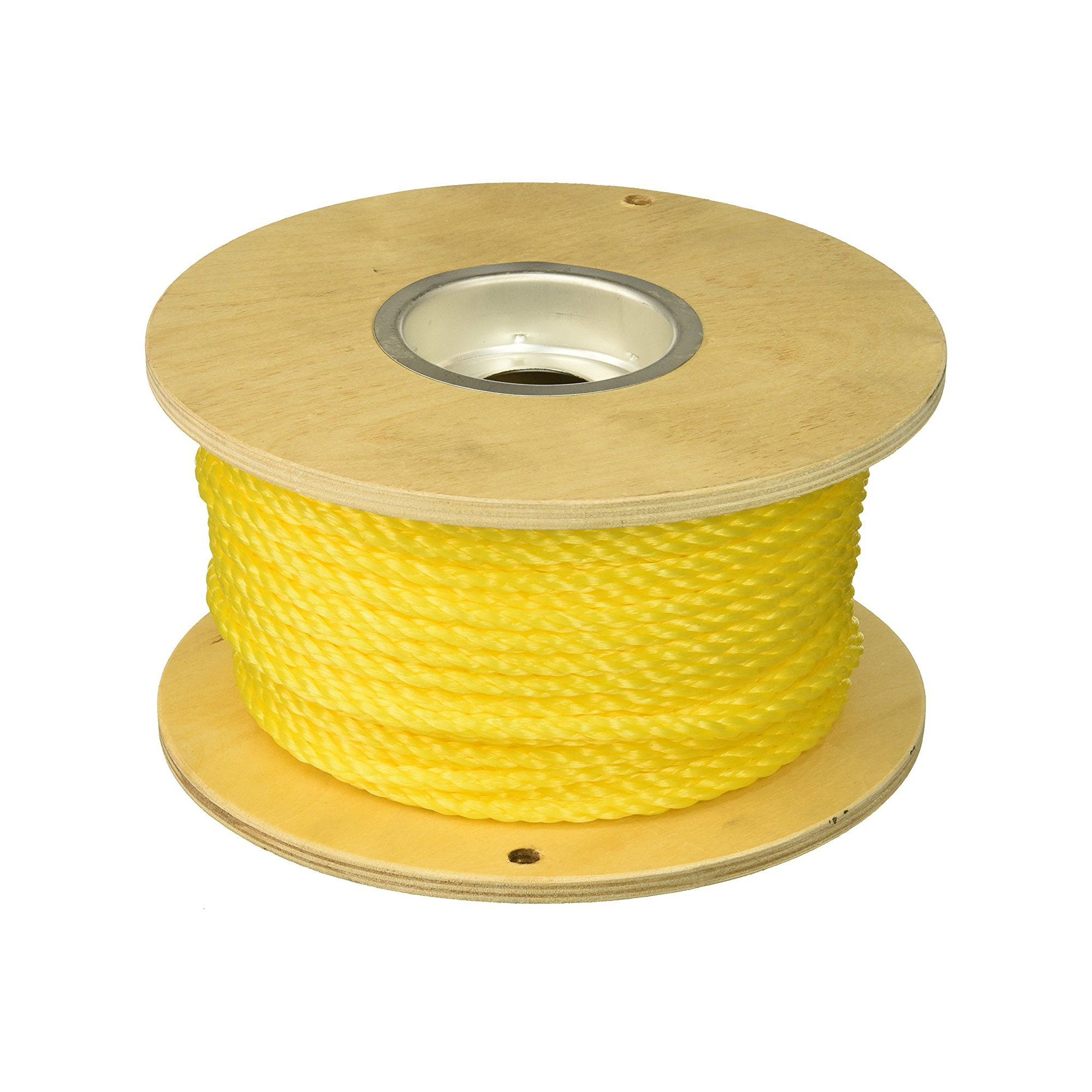 Gardner Bender RGP-3825 Poly-Pro General Purpose Rope, ⅜ in. x 250 ft., 243 lbs. Work Load, Manual Pulling, 1 Reel, Yellow