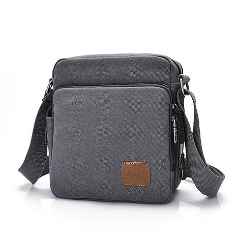 Outreo Borsa Tracolla Uomo Borse da Spalla di Tela Canvas Messenger Bag  Vintage Sacchetto di Tablet c82aec35e9b