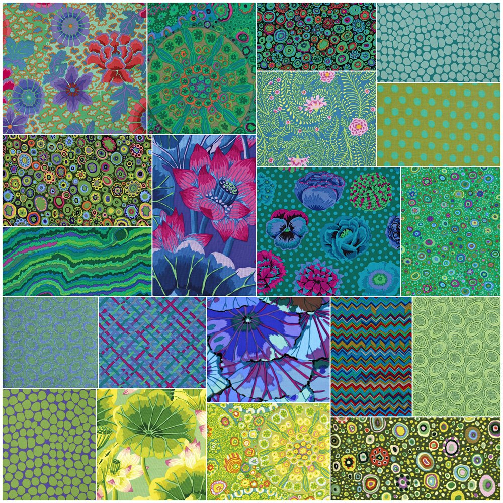 Free Spirit Fabrics Kaffe Fassett Collective Island Design Roll with 40 Strips 2.5 by 44