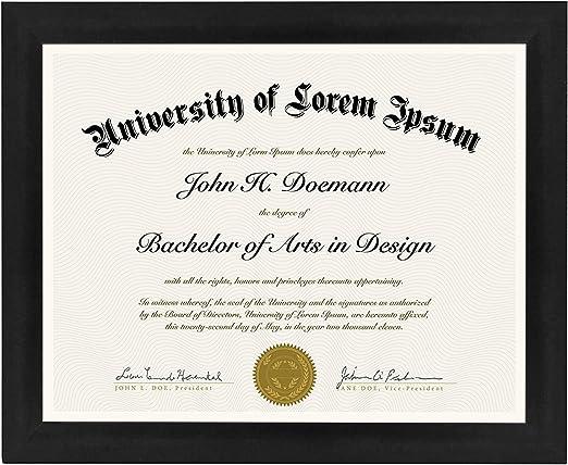 "1.5/"" Black Document Frames w//2 Mats Best Pricing"