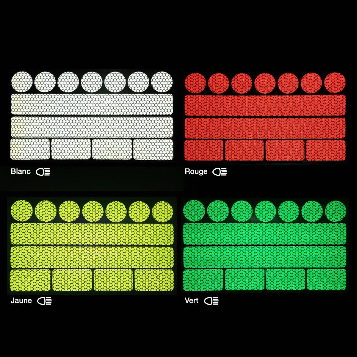 13 Pi/èces pour poussettes casques et plus BLEU v/élos Autocollant lumineux SafeKids