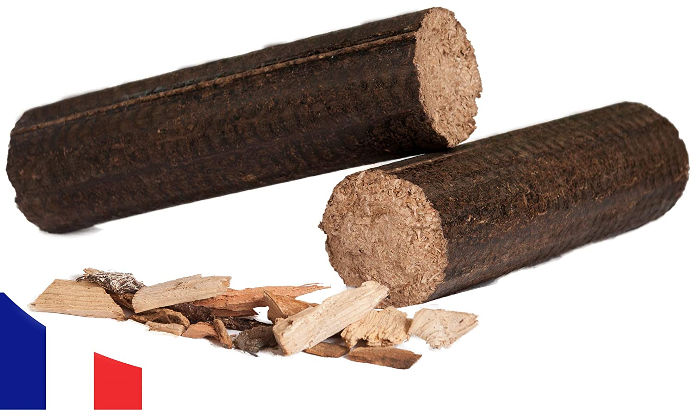 100% Hardwood Pack of Compressed Briquettes - Long Logs - 24 KG GICA BIO MASSE KALI MAX