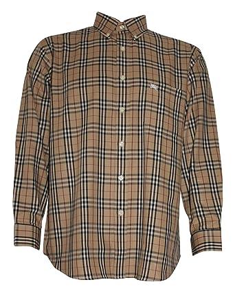 f79aed463d5 Burberry - Camisa Casual - para Hombre Beige Beige 38  Amazon.es  Ropa y  accesorios