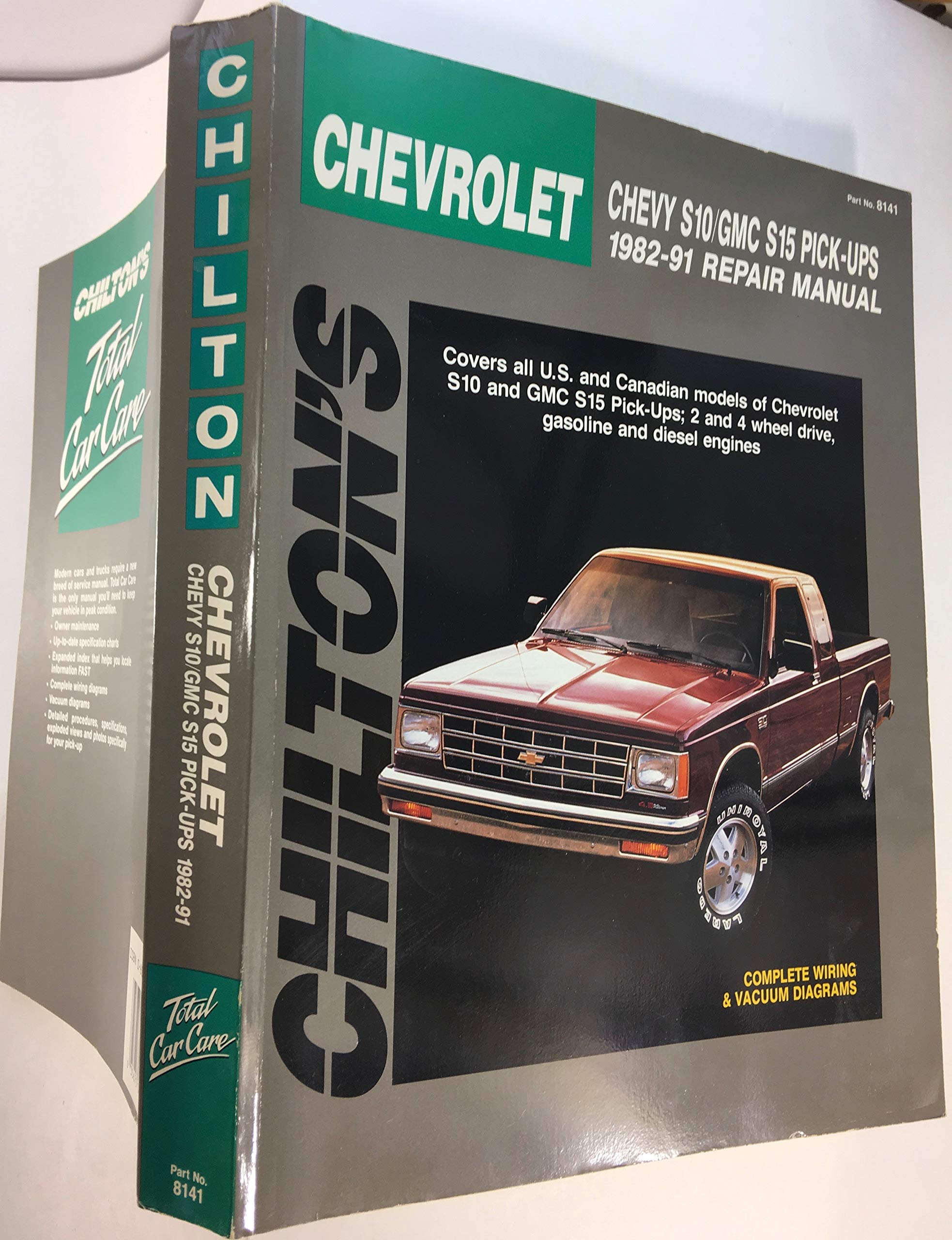 Chilton's Chevrolet Chevy S10/GMC S15 Pickups 1982-91 Repair Manual on 1972 chevy truck wiring diagram, chevrolet engine wiring diagram, chevrolet trailer wiring diagram,