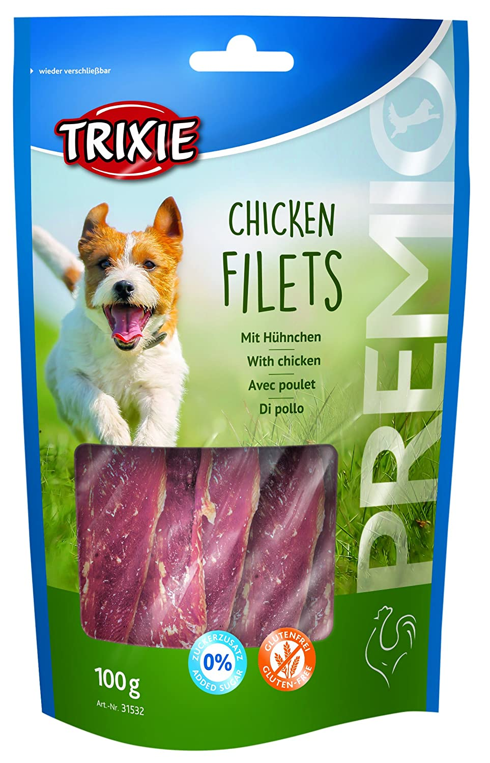 Trixie Premio Chicken Filets Friandise pour Chien 100 g TX-31532