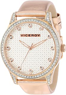 Viceroy Womens 40700-97 Rose Gold Ion-Plated Stainless Steel and Metallic Patent Leather