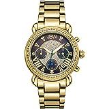 "JBW Women's JB-6210""Victory"" Three Sub-Dial Chronograph Diamond Watch for Women with Analog Display"