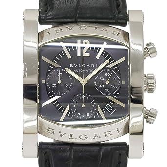 0780476c4a39 ブルガリ BVLGARI アショーマ クロノグラフ AA48SCH メンズ 腕時計 デイト ネイビー 文字盤 オートマ 自動巻き ウォッチ