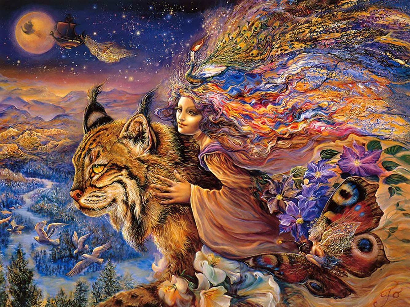 Stress Reliever Puzzles Forest Houses Cat Puzzle DIY Colorful Toys Perschool Educational Games Difficult Puzzle Art for Men and Women JUFANGFIN Jigsaw Puzzles 1000 Pieces for Adults Kids Families