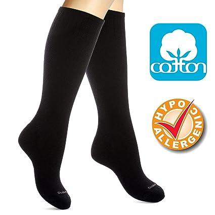 elegant shoes super quality superior quality Cotton Compression Socks for Women. Ladies Support Stockings for Nurses,  Travel, Flight, Pregnancy, Maternity, Varicose Veins, DVT, Athletics, ...