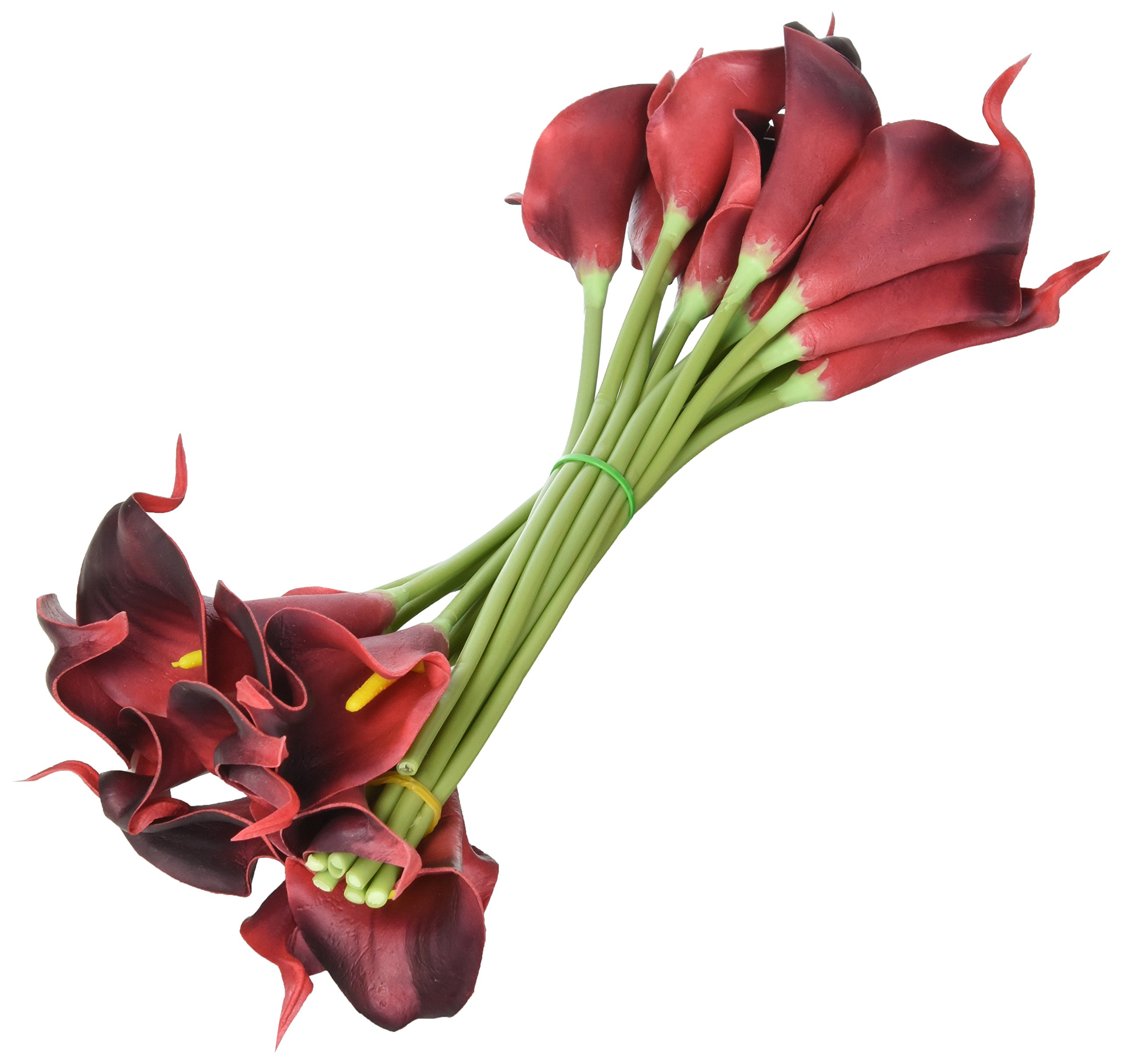Luyue Calla Lily Bridal Wedding Bouquet Head Lataex Real Touch