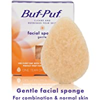 Buf-Puf Gentle Facial Sponge, Exfoliating, Dermatologist Developed, 1 Count