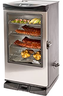 masterbuilt front controller smoker with viewing window and rf remote control 40inch