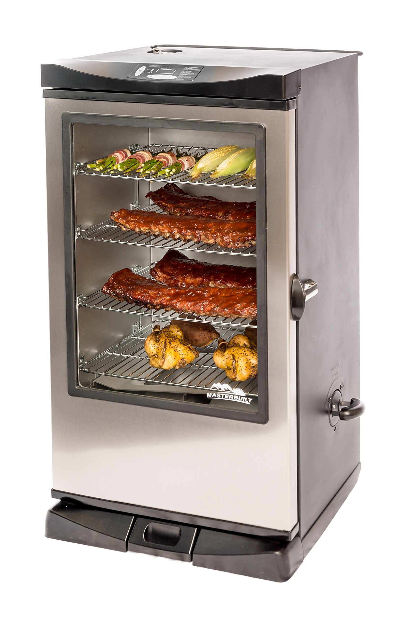 Masterbuilt 20075315 Front Controller Smoker with Viewing Window and RF Remote Control, 40-Inch by Masterbuilt
