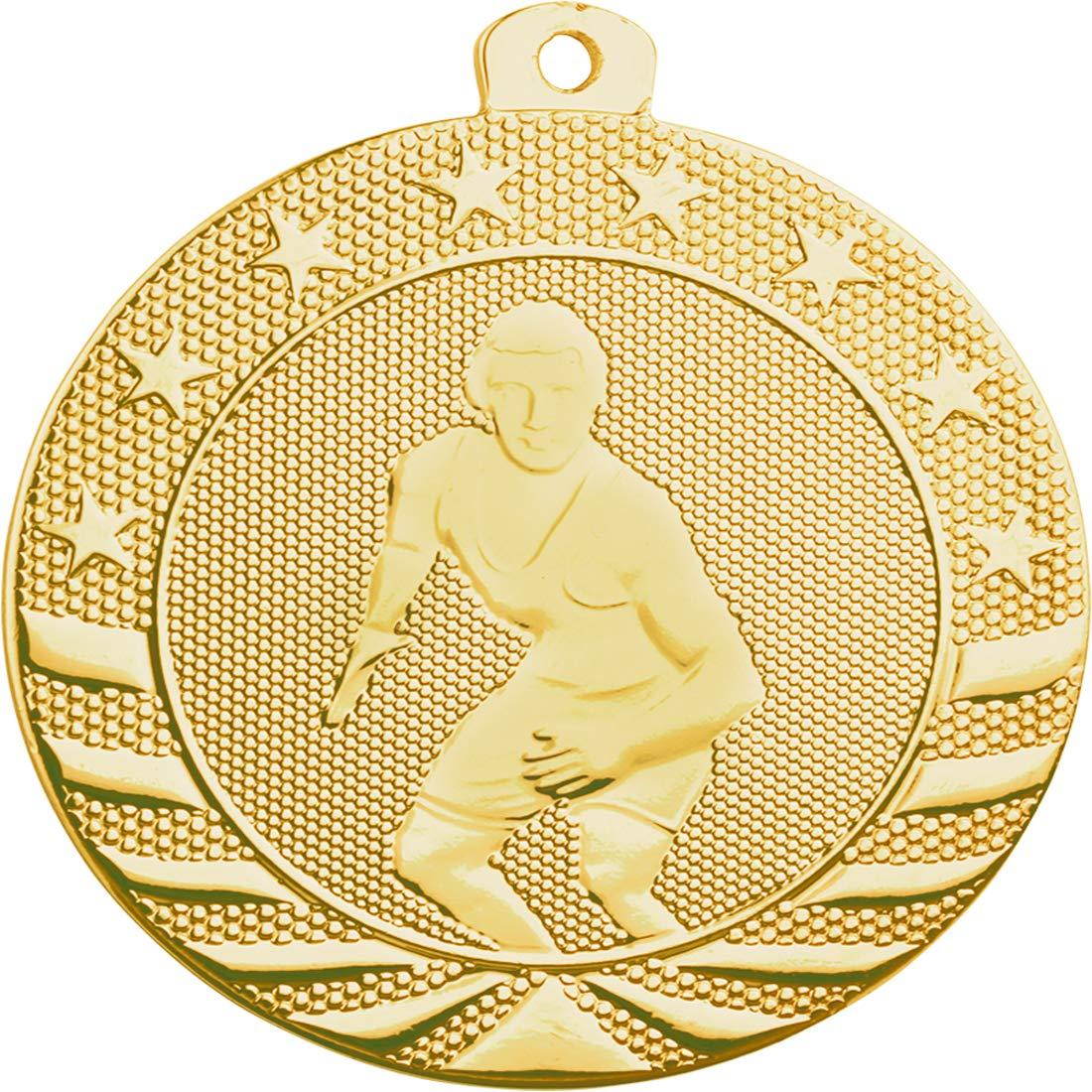 Express Medals レスリング用メダル 2インチ ゴールド メダル トロフィー 首リボン付き ソリッドメタル 賞 10個パック B07NZ4YXTK