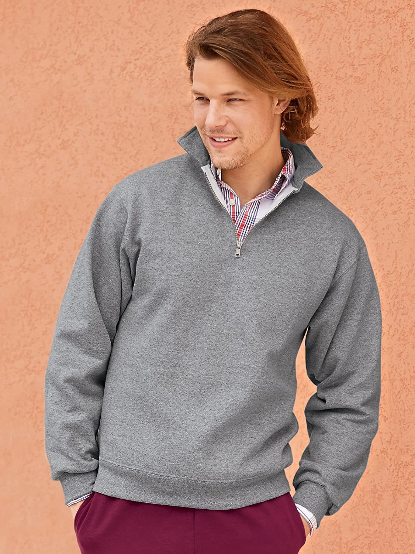 Jerzees Super Sweats Sweatshirt (50% Baumwolle, 50% Polyester) Forest Green