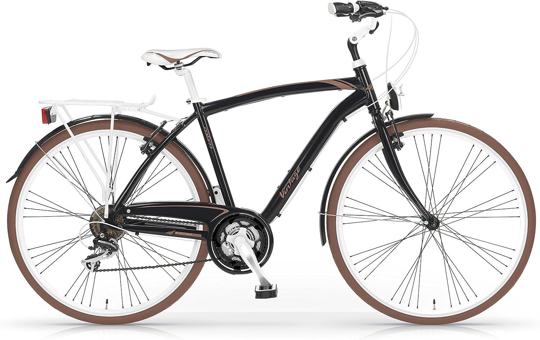 MBM Vintage - Bicicleta de Paseo para Hombre de 21 velocidades, Cuadro de Aluminio Talla 50, Ruedas de 28