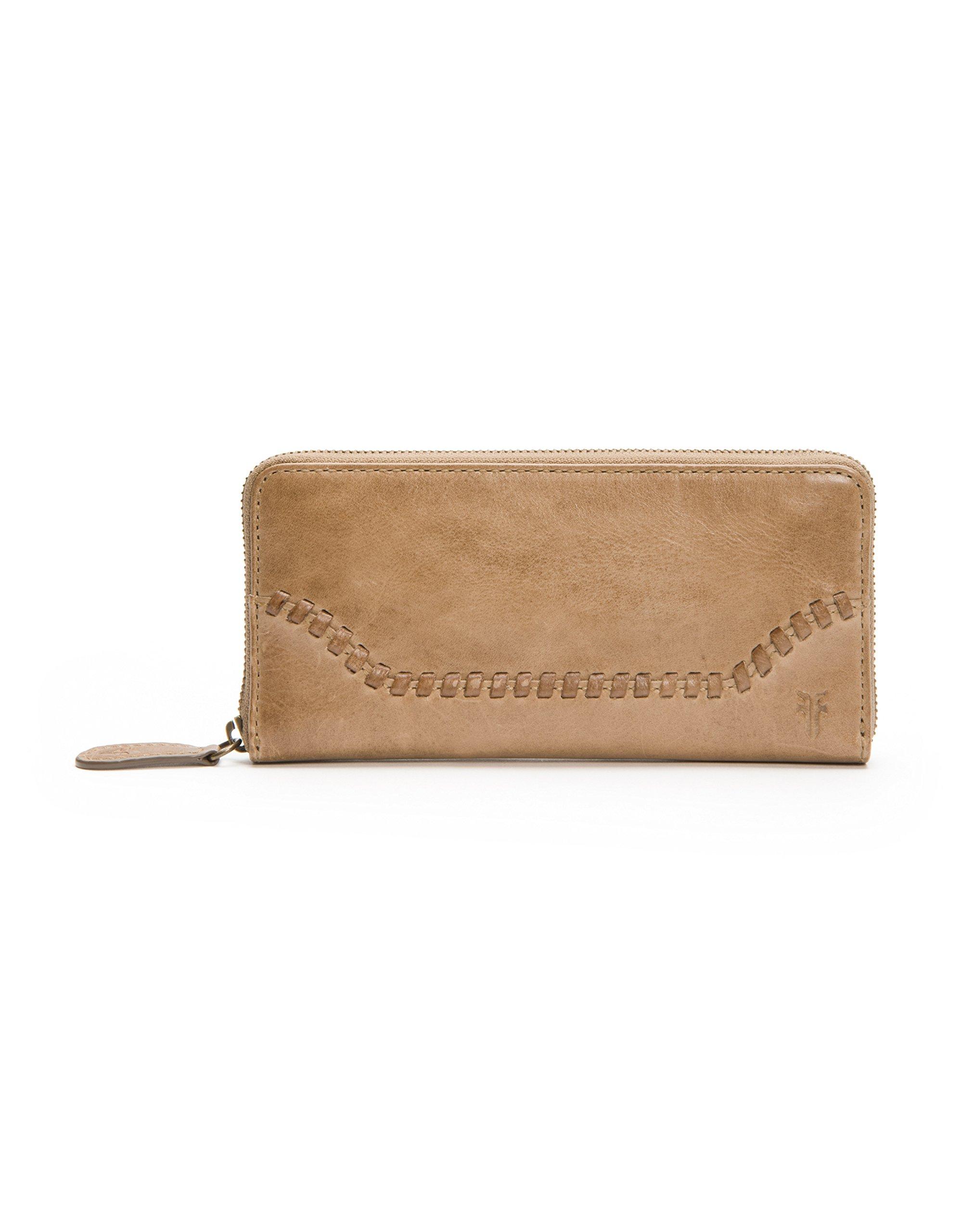 Melissa Whipstitch Zip Around Wallet Wallet, Dark Taupe, One Size by FRYE