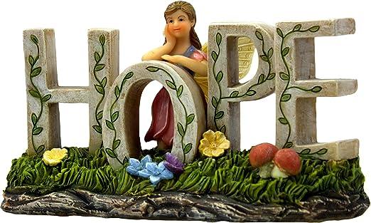 PRETMANNS Hada Accesorios de Jardín Cartel - Un Colorido Adorno de Hada para Uso en Interiores o Exteriores - Decorado con un Hada, Flores y Setas - 1 Pieza: Amazon.es: Jardín
