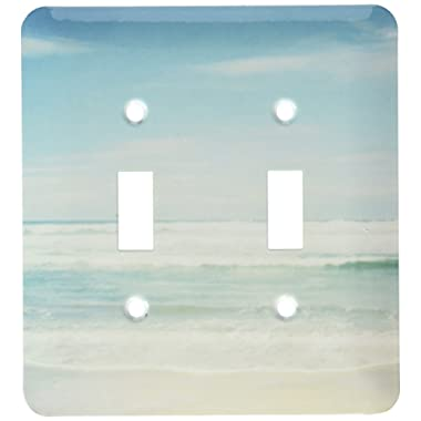3dRose lsp_164479_2 Gentle Ocean Waves Beach Theme Art Light Switch Cover
