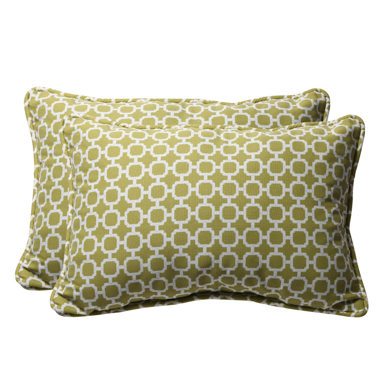 18-1//2L x 11-1//2W x 5 D Yellow//White Pillow Perfect Decorative Geometric Rectangle Toss Pillow