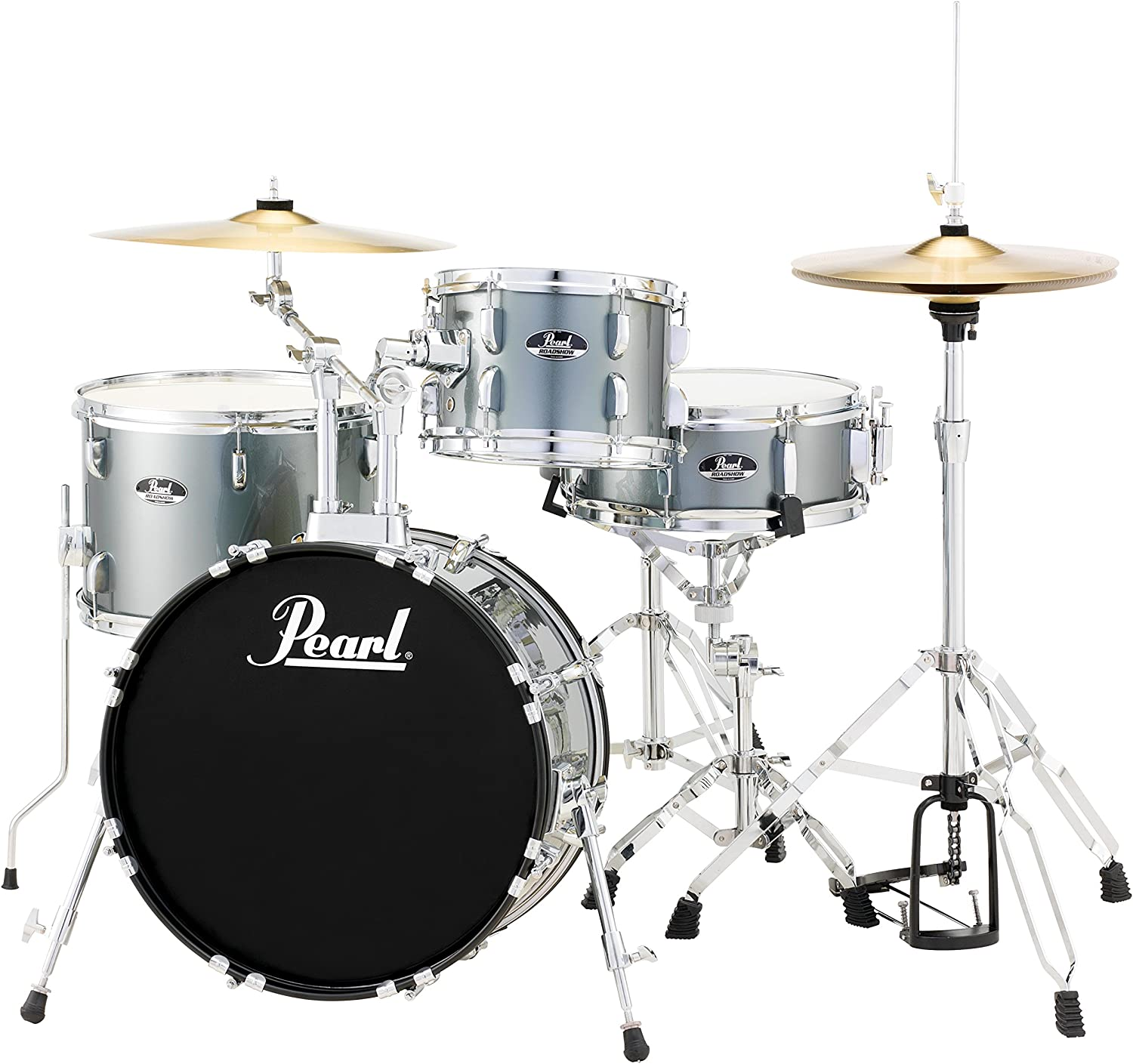 Amazon.com: Pearl RS584CC706 Roadshow 4-Piece Drum Set, Charcoal ...
