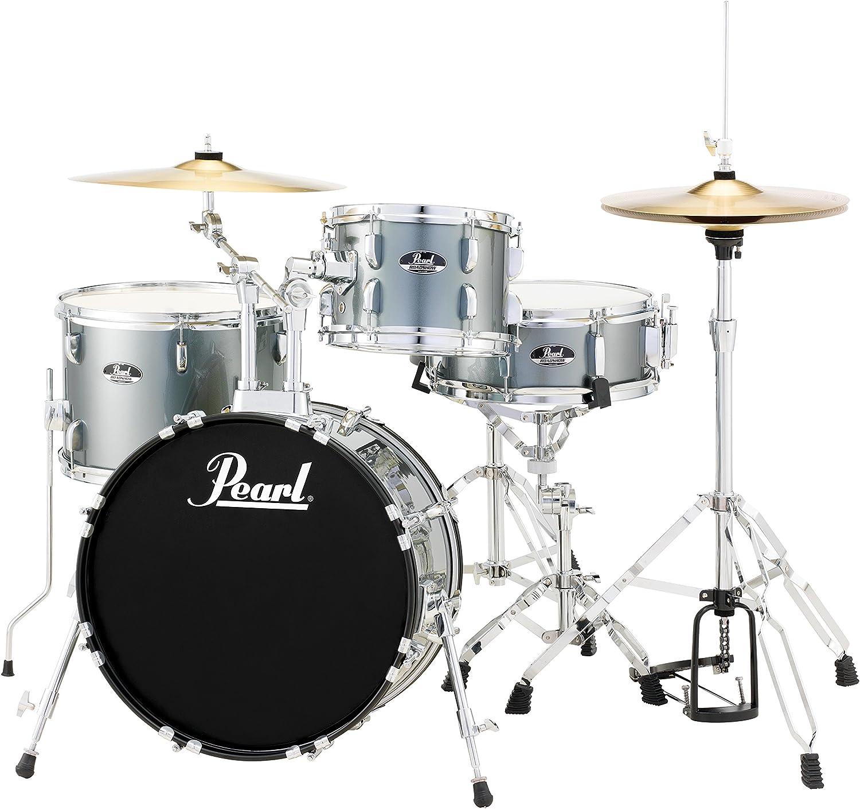 Amazon.com: Pearl RS584CC706 Roadshow 4-Piece Drum Set, Charcoal ...